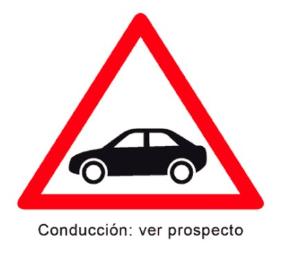 Si conduces, lee el prospecto